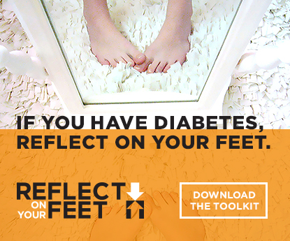 Reflect on Your Feet Logo